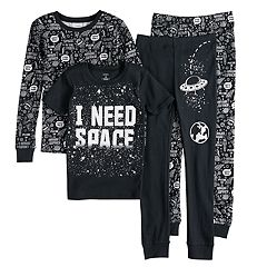 Boys 4-8 Carter's 'I Need Space' 4-Piece Glow-In-The-Dark Pajama Set