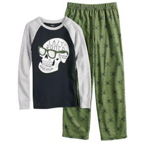 "Boys 4-14 Carter's ""Lazy Bones"" 2-Piece Pajama Set"