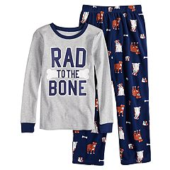 Boys 4-14 Carter's 'Bad To the Bone' 2-Piece Pajama Set