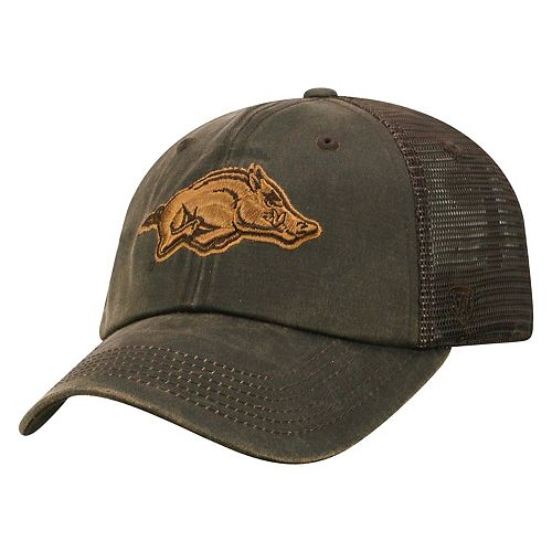 9b4ebfab237 Adult Top of the World Arkansas Razorbacks Chestnut Adjustable Cap