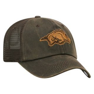 Adult Top of the World Arkansas Razorbacks Chestnut Adjustable Cap
