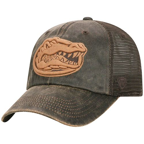 Adult Top of the World Florida Gators Chestnut Adjustable Cap