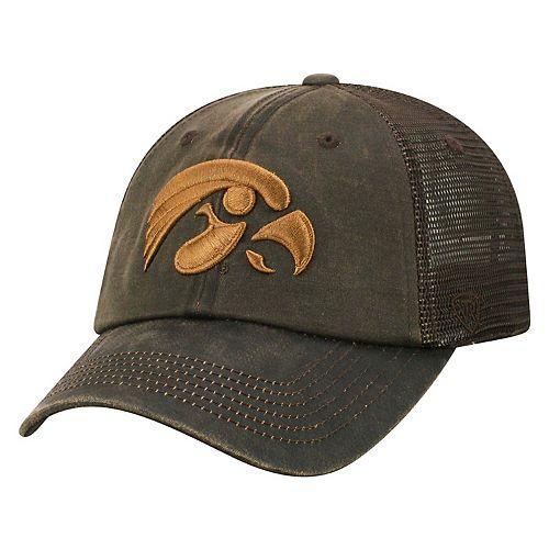 Adult Top of the World Iowa Hawkeyes Chestnut Adjustable Cap