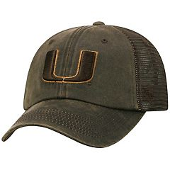 Adult Top of the World Miami Hurricanes Chestnut Adjustable Cap