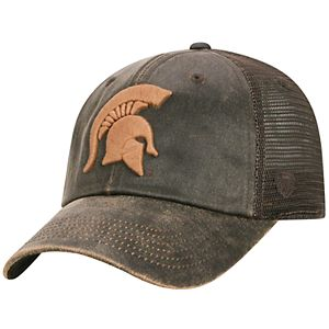 Adult Top of the World Michigan State Spartans Chestnut Adjustable Cap