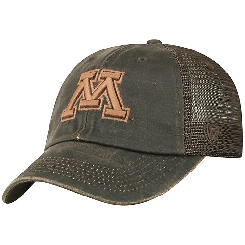 Adult Top of the World Minnesota Golden Gophers Chestnut Adjustable Cap
