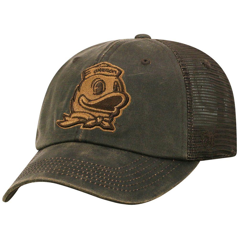 Adult Top of the World Oregon Ducks Chestnut Adjustable Cap