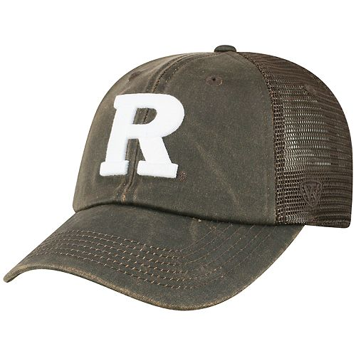 Adult Top of the World Rutgers Scarlet Knights Chestnut Adjustable Cap