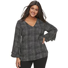 Plus Size  Apt. 9® Double Bell Sleeve Top