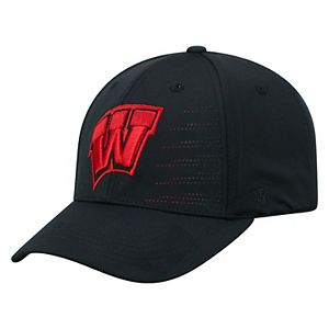 Adult Top of the World Wisconsin Badgers Dazed Performance Cap