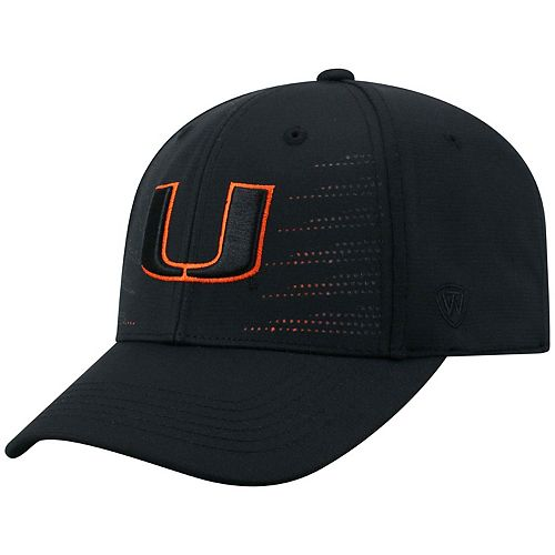 3ee237d4dbb Adult Top of the World Miami Hurricanes Dazed Performance Cap