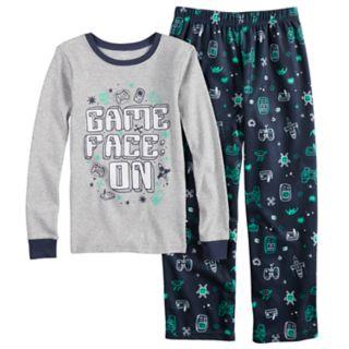 """Boys 4-7 Carter's """"Game Face"""" 2 Piece Pajama Set"""