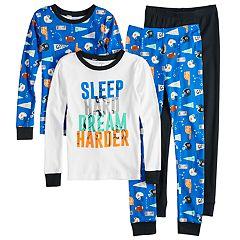 Boys 4-8 Carter's Sports Team 4-Piece Pajama Set