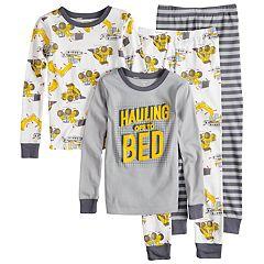 Boys 4-8 Carter's Dumptruck 4-Piece Pajama Set