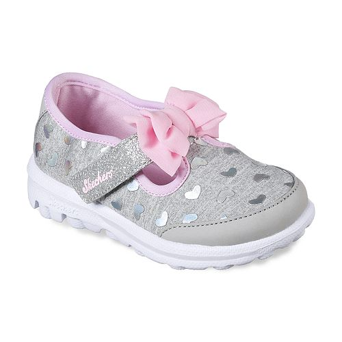 Skechers GOwalk Bitty Hearts Toddler Girls' Sneakers