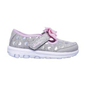 Skechers GOwalk Bitty Hearts Toddler Girls' Sneakers