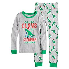 Boys 4-12 Carter's Santa Claws Dinosaur 2-Piece Pajama Set