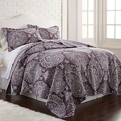 Printed Cotton Reversible Quilt Set