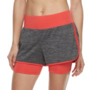 Women's Tek Gear® Performance Layered Knit Shorts