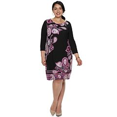 Plus Size Dana Buchman Scoopneck Shift Dress