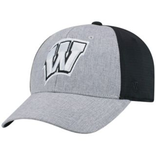 Adult Top of the World Wisconsin Badgers Fabooia Memory-Fit Cap