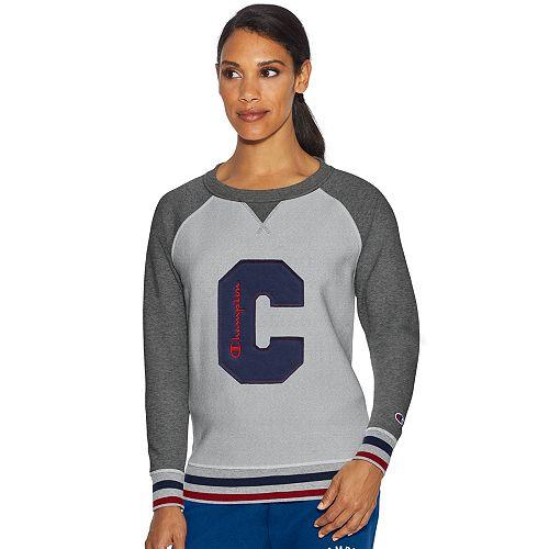 Women's Champion Heritage Fleece Raglan Long Sleeve Top