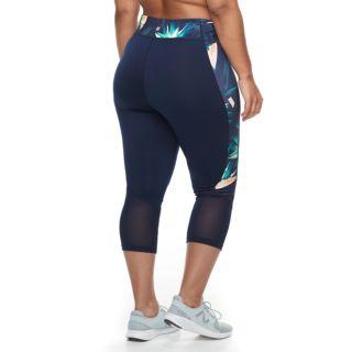 Plus Size Tek Gear® Mesh Midrise Capri Leggings