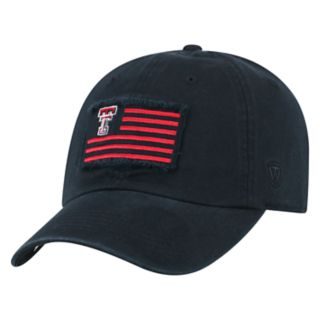 Adult Top of the World Texas Tech Red Raiders Flag Adjustable Cap