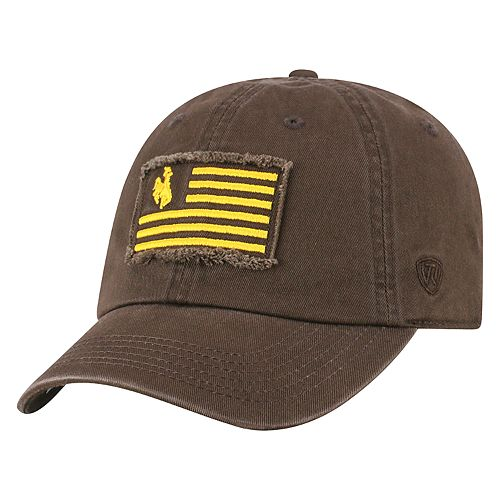 Adult Top of the World Wyoming Cowboys Flag Adjustable Cap