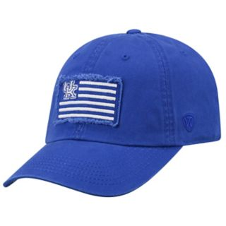 Adult Top of the World Kentucky Wildcats Flag Adjustable Cap
