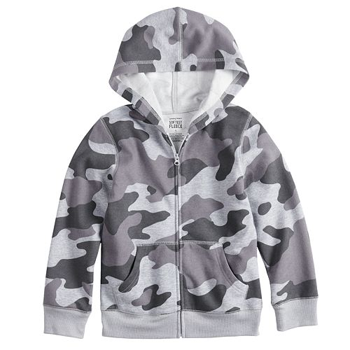 8a94696f6 Baby Boy Jumping Beans® Camouflaged Softest Fleece Zip Hoodie