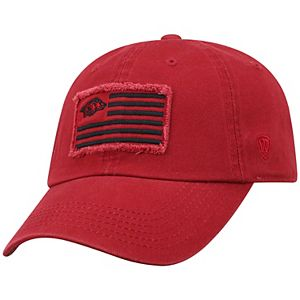 Adult Top of the World Arkansas Razorbacks Flag Adjustable Cap