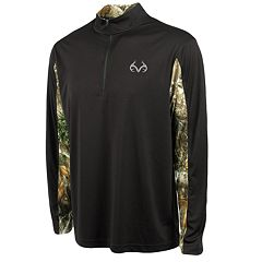Men's Realtree Stealth Quarter-Zip Performance Top