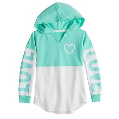 Girls 7-16 & Plus Size Miss Chievous Long Sleeve Colorblock Hoodie Sweatshirt