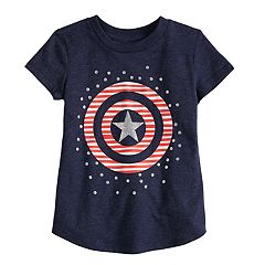 Toddler Girl Jumping Beans® Marvel Captain America Shield Graphic Tee