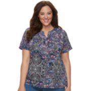 Plus Size Croft & Barrow® Print Shirt