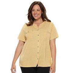 Plus Size Croft & Barrow® Print Shirt