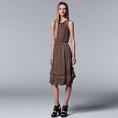 Women's Simply Vera Vera Wang Mixed-Media Dress