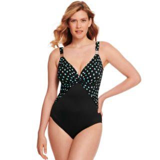 Women's Croft & Barrow® Swimshaper Twist-Front One-Piece Swimsuit