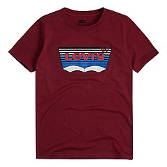 Boys 8-20 Levi's Striped Batwing Logo Tee