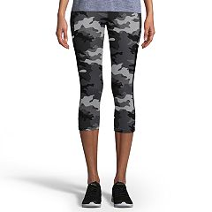 Women's Champion Gym Issue Camo Mid-Rise Capri Leggings