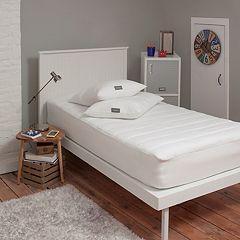 Eddie Bauer Dorm University College Twin XL Mattress Pad & Pillow Set