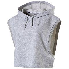Women's PUMA Summer Cropped Sleeveless Hoodie