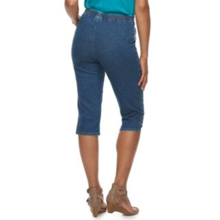 Women's Croft & Barrow® Rivet-Hem Pull On Capris