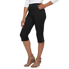 Women's Croft & Barrow® Rivet-Hem Pull On Capris