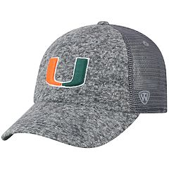 superior quality 23803 16048 Adult Top of the World Miami Hurricanes Fragment Adjustable Cap