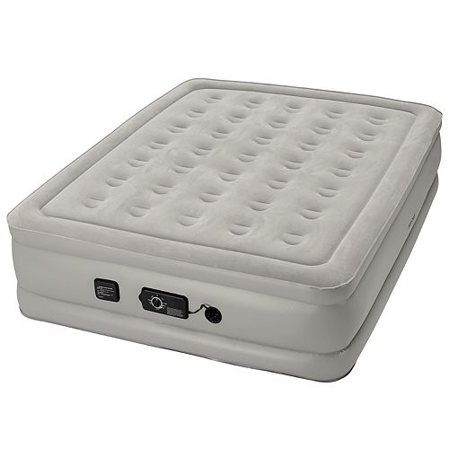 Insta-Bed Raised 19-in Queen Air Mattress & Internal Never Flat Pump