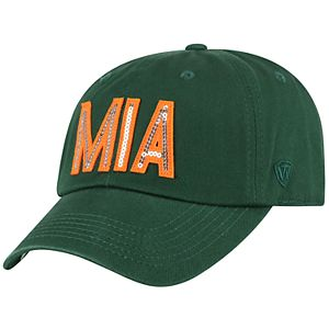 Women's Top of the World Miami Hurricanes Glow District Adjustable Cap