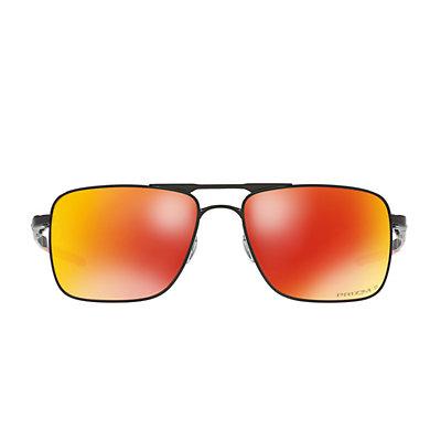 Oakley Gauge 6 OO6038 57mm Titanium Prizm Ruby Square Polarized Mirror Sunglasses