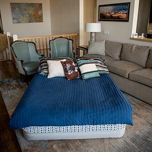 Insta-Bed Raised 18-in Queen Pillow Top Air Mattress & Internal Never Flat Pump